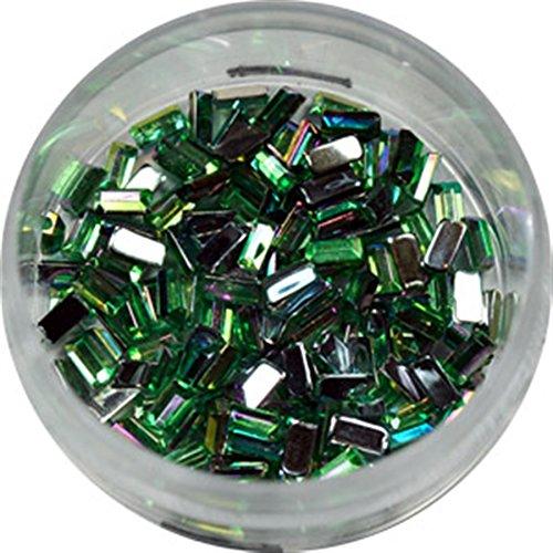 RM Beautynails Nailfun Lot de 50 strass rectangulaires Vert