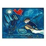 YB Russische Marc Chagall Leinwand Drucke Malerei Kunst