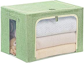 Laundry Basket Laundry Basket Storage Boxes with Lids,Cube Storage Box with Handles,Cotton Fabric Collapsible Storage Box,...