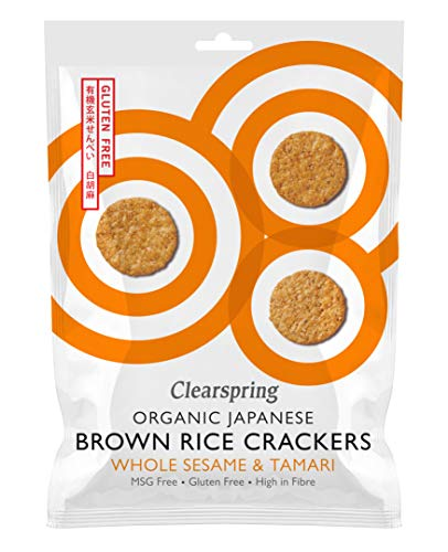 Clearspring   Brown Rice Crackers - Whole Sesame   1 X 40G
