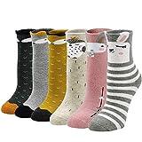 ZFSOCK Dicke Kinder Socken aus Baumwoll Bunte Thermo Winter Socken mit Frotteefutter Warme Lustige...