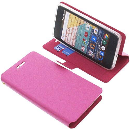 foto-kontor Tasche für Archos 45b Neon Book Style pink Schutz Hülle Buch