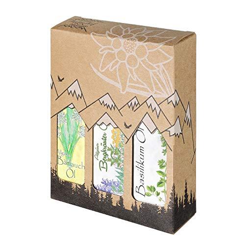 Allgäuer Genuss-Box - Feinkost Geschenk-Set - 3 x 100ml feinstes Öl - Allgäuer Delikatessen mit Geschenkverpackung als Geschenk-Set