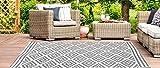 Jet-line Outdoor Garten Teppich 'Austin' grau Größe, 90 x 150 cm Gartenteppich Terrasse Balkon Wetterfest für In und Outdoor - 4
