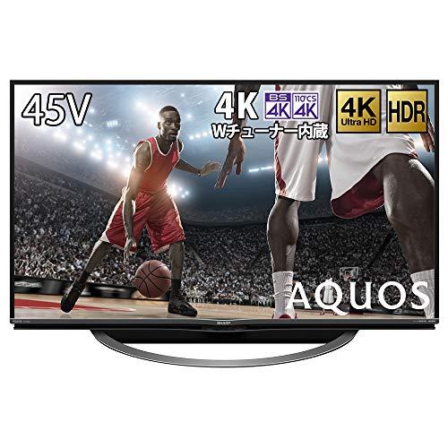 シャープ 45V型 4Kチューナー内蔵 液晶 テレビ AQUOS  4T-C45AL1 スマートテレビ(Android TV) HDR対応