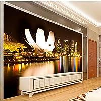 mzznz 壁紙壁画家の装飾壁紙3D用リビングルームテクスチャー壁紙寝室都市ビルアート-400X280Cm