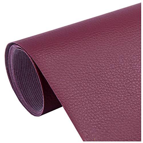SSYBDUAN Möbelstoff Premium Bezugsstoff Zum Kunstleder Lederimitat Lederstoff Polsterstoff Möbelstoff Meterware Bezugsstoff -Polster Kunstleder,Wein, rot, 1,38 × 1 m (4.5ft × 3.3ft) (Size : 1.38×3m)