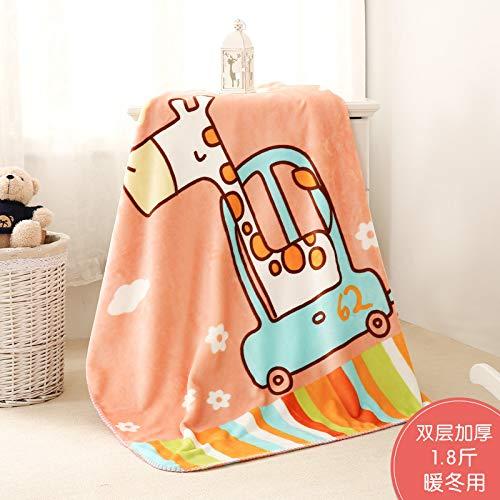 Blanket S-Werthy Couverture bébé Double épaisseur Corail Duvet bébé Nouveau-né Couverture de Cheveux Petite Couverture de Nuage bébé Couverture 100 * 140CM, A