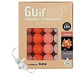 Guirlande lumineuse boules coton LED USB - Veilleuse bébé 2h - Adaptateur secteur double USB 2A inclus - 3 intensités - 16 boules 3.2m - Ottoman