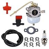 Atoparts Carburetor with Spark Plug Fuel Hose Shut Off Valve for Tecumseh 631921 632284 631070A 631245 631820 H25 H30 H35 Engine