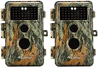 [Upgraded] BlazeVideo 2-Pack Game Trail Deer Cameras 16MP 1920x1080P Video with 65ft Night Vision PIR Motion Activated Waterproof IP66 No Glow Infrared Camo Wildlife Hunting Cam 0.6S Trigger 2.4