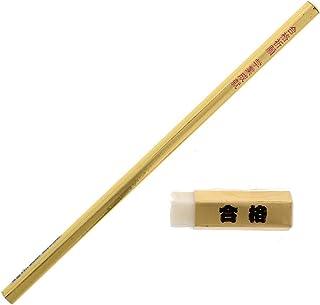金の合格五角鉛筆 10本 金の合格五角消しゴム 10個 セット