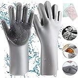 Homga Gants en Silicone, Magic Gloves Gants de Rinçage en Silicone Propres Réutilisables...