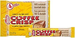 Canada Candy Coffee Crisp Chocolate Bar 4 x 50gram Bars. Imported from Canada. (Basic)