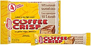 Canada Candy Coffee Crisp Chocolate Bar 4 x 50gram Bars. Imported from Canada. (Basic)
