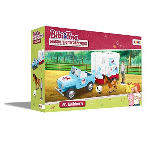 CRAZE BIBI & Tina Mobile Tierarzt Station Spielset Spielfiguren 19276, Pferde Spielwelt