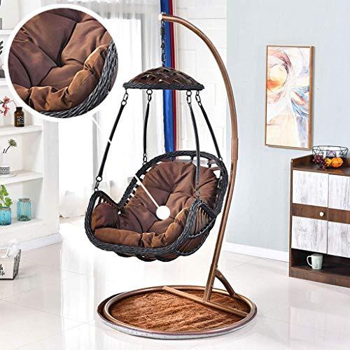 Yuany grijze rotan hangende schommelstoel kussen, eistoel hangmat kussen voor binnen of buiten, afmeting: 80x120cm (kleur: wit)