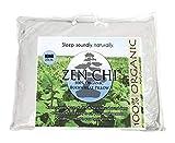 ZEN CHI Buckwheat Pillow- Organic King Size (20'X36') w Natural Cooling Technology- All Cotton Cover w Organic Buckwheat Hulls