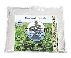 "Image of ZEN CHI Buckwheat Pillow- Organic King Size (20""X36"") w Natural Cooling Technology- All Cotton Cover w Organic Buckwheat Hulls: Bestviewsreviews"