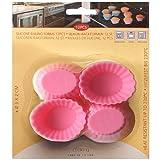 12 pcs Mini Muffin Torta Forma oval in silicone - stampo per Muffin formine, 1907 - 1910 rosa