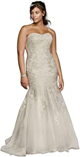 Lace Sweetheart Neckline Plus Size Wedding Dress Style 9WG3800