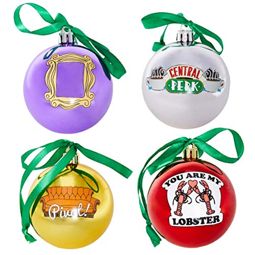 Friends Ornaments, Christmas Decorations, Set of 4