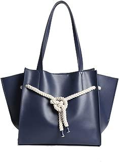 Fashion New Retro Casual Fashion Bills Shoulder Slung Small Handbag Female Cowhide Bag (Color : Blue)