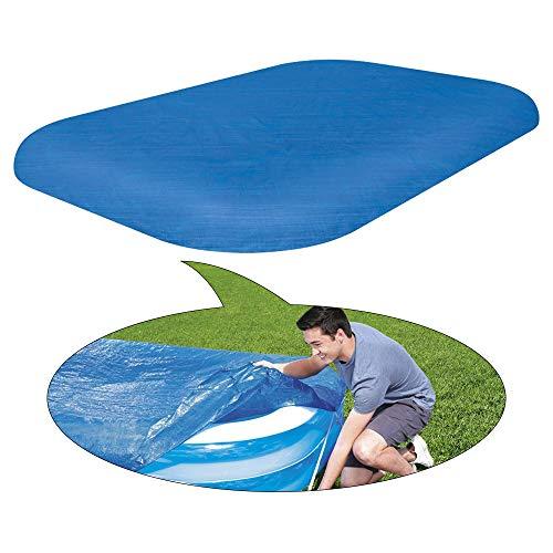 Cooyeah Familien-Pool-Abdeckung, 3 m, rechteckige Poolabdeckung, 304,8 x 182,9 cm, staubdicht, regendicht, wasserdicht, quadratische Schwimmbadabdeckung, blaue Farbe, verdickte Poncho-Abdeckung