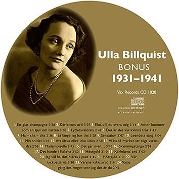 Den Kompletta Ulla Billquist 1931-1941 (Bonus Version)