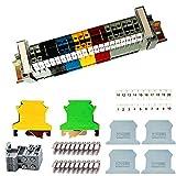 Her Kindness Kit de bloque de conexión de carril DIN UK-2.5B, terminal de paso paso, adecuado para proyectos de automatización, garaje, proyectos de bricolaje