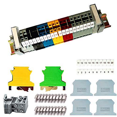 Her Kindness DIN-Schienenanschlussblock-Kit UK-2.5B Durchgangsklemme Kit,Geeignet für Automatisierungsprojekte, Garage, DIY-Projekte