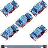 Youmile - Módulo de relé de 5 canales, 12 V, 1 canal, optoaislado, tablero de disparo de nivel alto o bajo, tablero de relé, tablero optoacoplador con cable DuPont