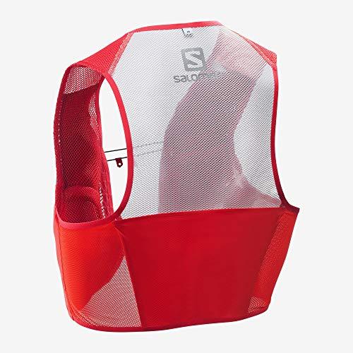 Salomon S/Lab Sense 2 Set Unisex Trail Running Vest Backpack, Racing Red, Medium