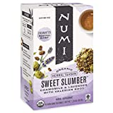 Numi Organic Tea Sweet Slumber with Chamomile, Valerian Root & Lavender, 16 Count Box of Tea Bags...