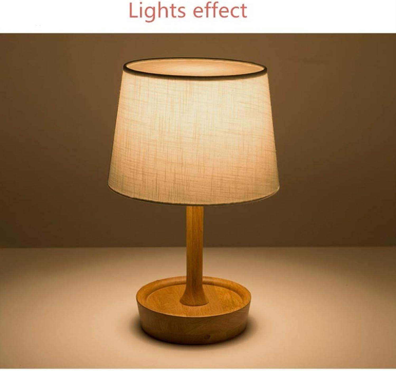 Tischlampe Nordic Massivholz Tischlampe Lampara De Mesa De Roble Schlafzimmer Nacht Einfache Kreative Amerikanischen Retro Holz Nachttischlampe