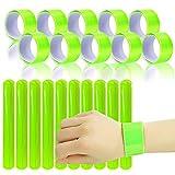 Gxhong 20PCS Reflektierende Sicherheitsbänder, Schnapparmbänder Reflektierend Klatscharmband Hochsichtbares Knöchelriemen für Kinder Erwachsene Jungen und Mädchen Fahrrad Fahren Laufen Oder Joggen