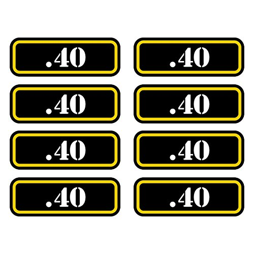 8X 9mm Ammo Can Sticker Set Decal Molon Labe Bullet 9 mm Type 2 FA Vinyl fagraphix
