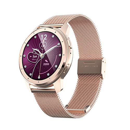 JXFF 2021 MX11 Smart Watch Men and Women Bluetooth Llamada Música Reproducir Pareja Reloj Monitor De Ritmo Cardíaco Monitor De Ritmo Impermeable Gimnasio Reloj Inteligente para Android iOS,F