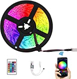 5M 10M 15M WiFi LED Strip Light RGB Impermeable SMD 5050 RGB LED Strip Tape DC 12V + Control remoto + Adaptador-RGB_5M