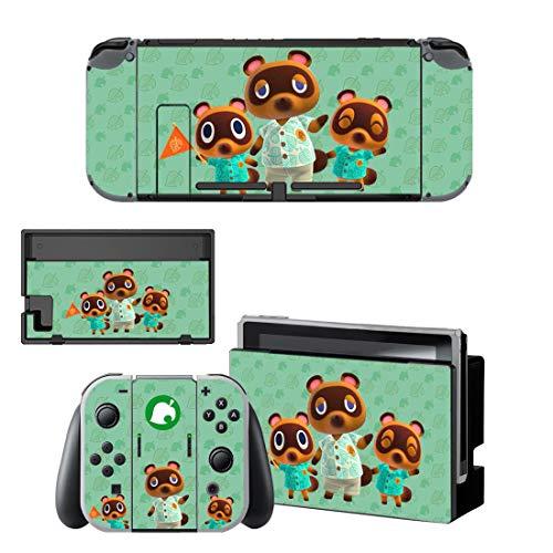 Nintendo Switch Skin Wrap Decal Set Vinyl Sticker Animal Crossing Nook...
