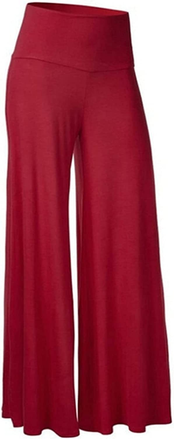 Fowoukior Women Summer Wide Leg Pants High Waist Loose Casual Pants Soft Cotton Trousers Casual Stretch Pull On Capris Pants