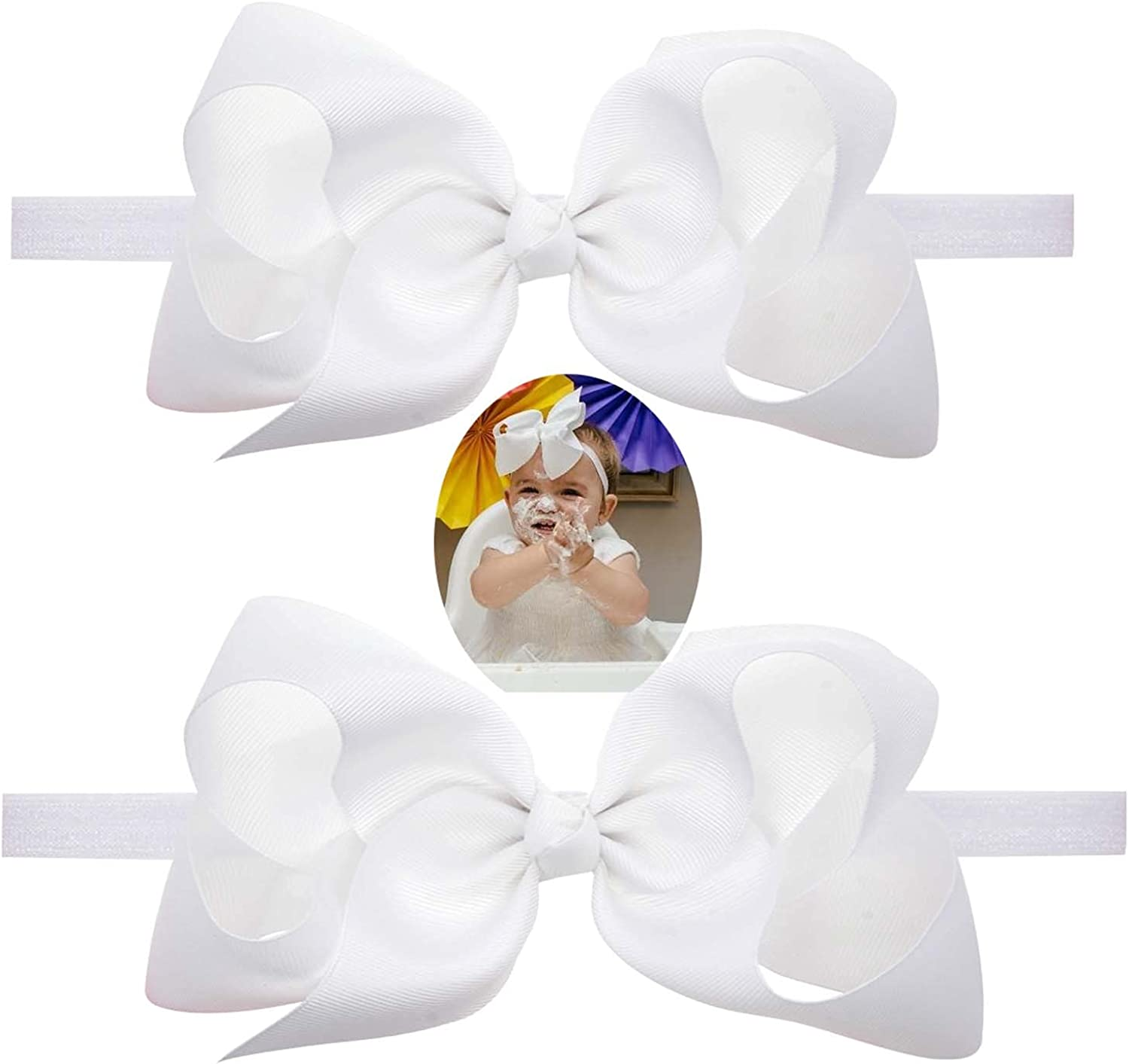 Baby Girls Infant Headbands With Kids Hair Bows,Infant Girls Hairbands.(LDZ58)