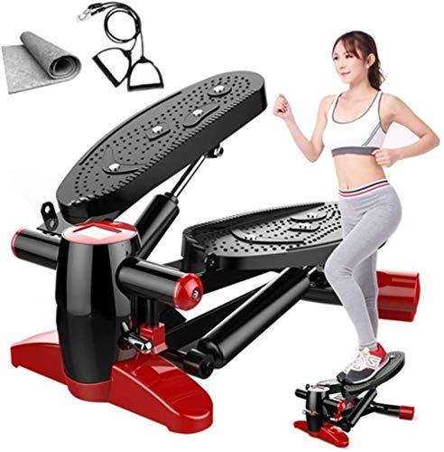 Lager 150Kg Multifunctionele Mini Loopbanden met Trektouw en Mat Massage Voet Fitness Steppers Rustig Afvallen Pedaal Groen(Upgrade)