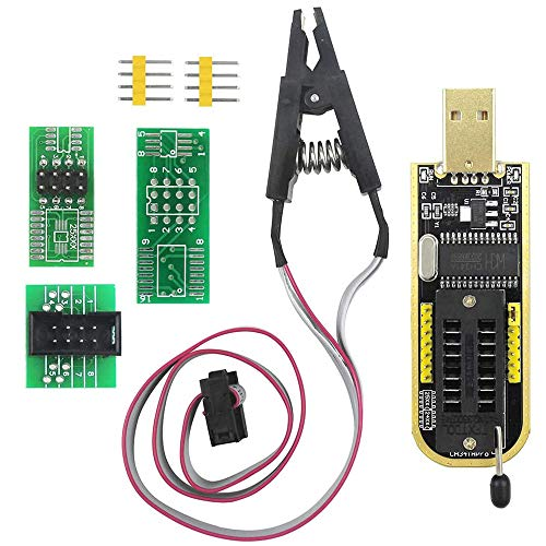SOIC8 SOP8 Flash Chip IC CH341A USB Programador EEPROM Flash BIOS Chip USB Programador (SB Programador + SOP8 Clip + Adaptador)