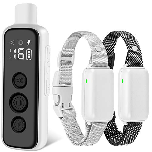 BOUSNIC Dog Shock Collar for 2 Dogs - (8-120lbs) Waterproof Rechargeable Electric Dog Training Collar with Remote for Small Medium Large Dogs with Beep Vibration Safe Shock Modes
