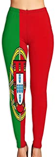 Portugal Courtesy Flag Yoga Pants Washable Legging Tights Quick Dry Sportswear for Women Girl Workout