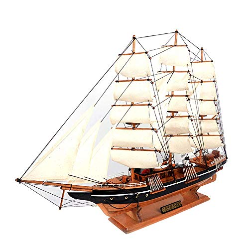 1yess Militärisches Segelboot-Modell, Cutty Sark Holz Segelboot Modell, Heimdekoration und Geschenke, 31,5 Zoll x 23.6inch