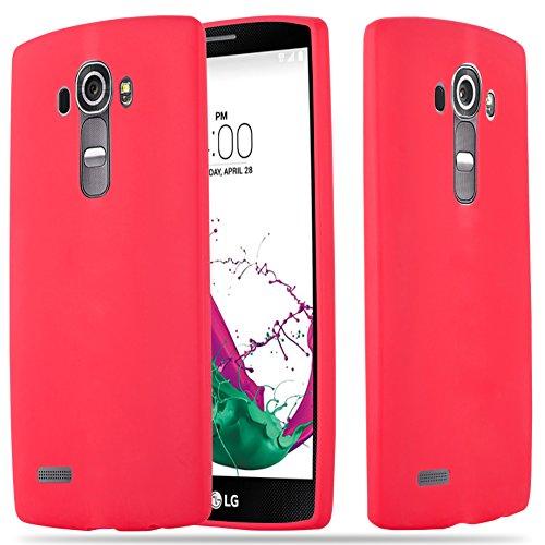 Cadorabo Custodia per LG G4 / G4 Plus in Candy Rosso - Morbida Cover Protettiva Sottile di Silicone TPU con Bordo Protezione - Ultra Slim Case Antiurto Gel Back Bumper Guscio