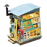 MRR Casa de muñecas Cabaña de Madera Que modela el Bricolaje Set Casa de jardín Bolsa de Herramientas de Madera Casa de muñecas Hecha a Mano Decoración de Juguetes Adecuada para niños y niñas