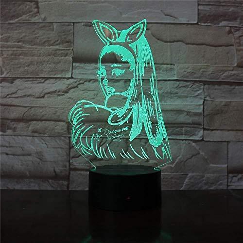 3D-Licht Nachtlampe Farbe 3D-Lampe Tischlicht Promi-Sängerin Ariana Grande Poster Katze Mädchen Fans Gifast für Schlafzimmer dekorative 3D-LED-Nachtlampe